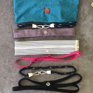 Headband grab bag - 7 headbands mostly lululemon